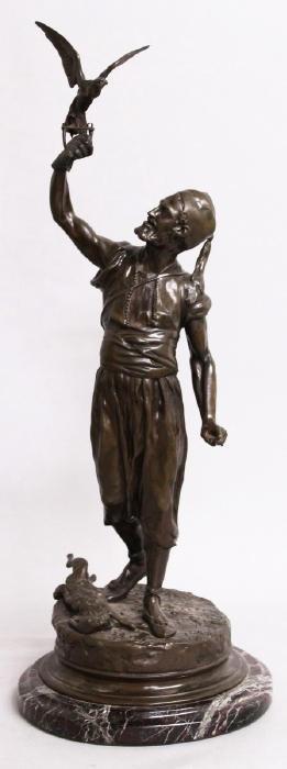 "PIERRE-JULES MENE (1810-1879) FRENCH  ""THE FALCONER""."