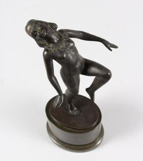 A GOOD SMALL ART DECO STYLE BRONZE, depicting a nude