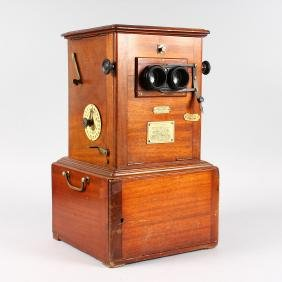 A 19TH CENTURY MAHOGANY CASED LE TAXIPHOTE STEREO