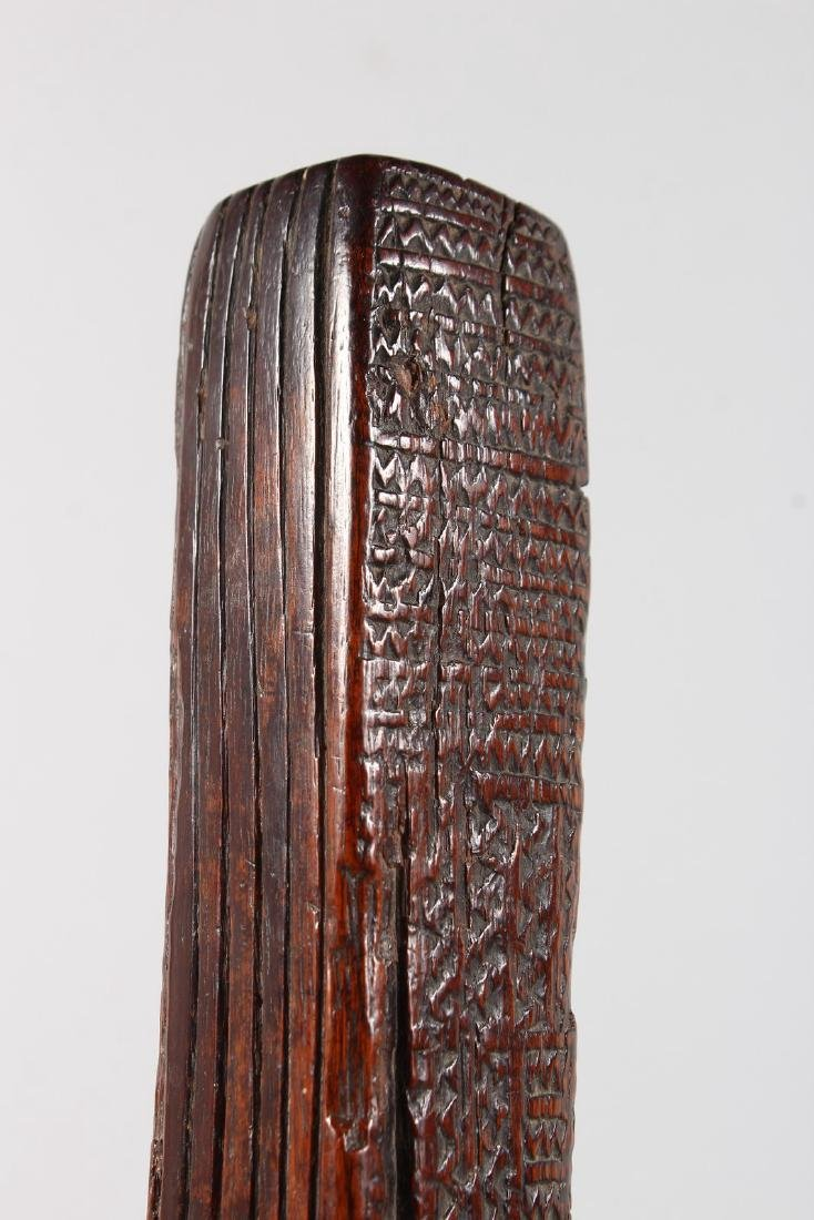 A RARE GILBERT ISLANDS CARVED WOOD CLOTH BEATER, four - 10