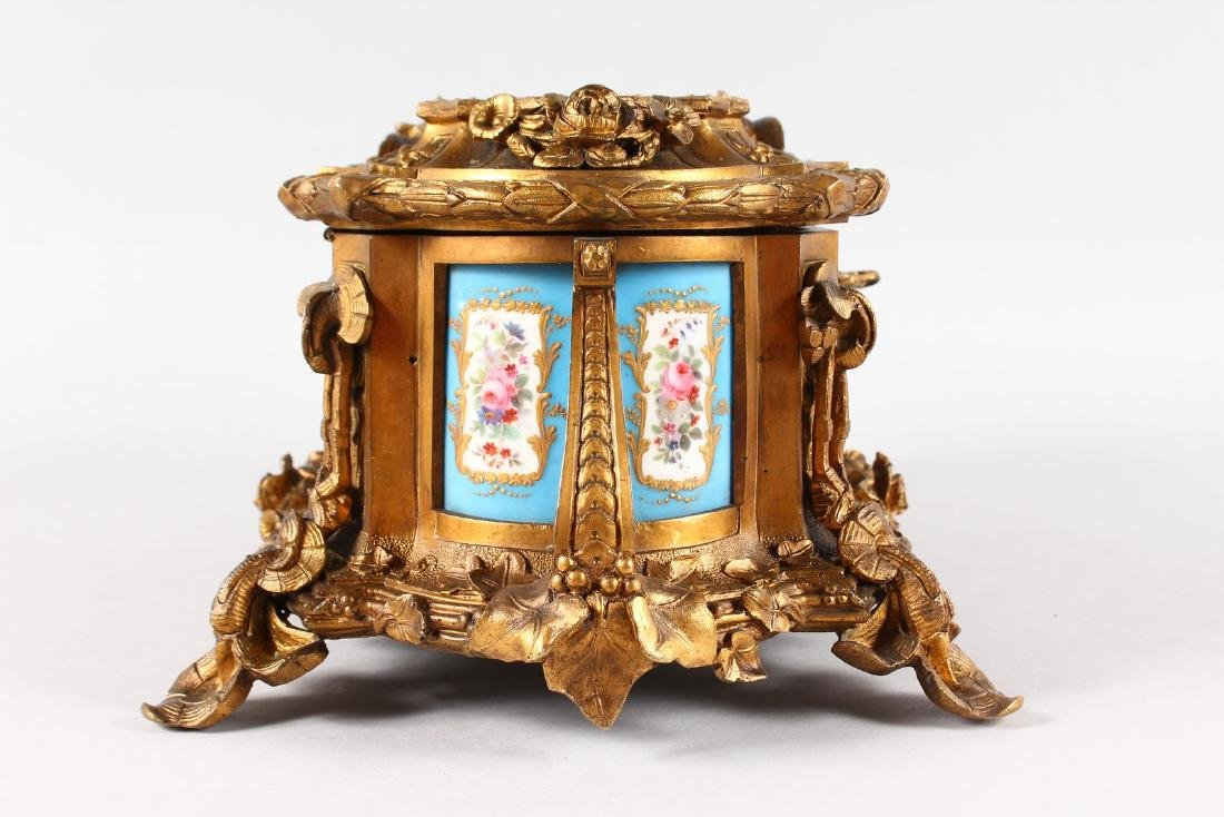A SUPERB 19TH CENTURY FRENCH ORMOLU JEWELLERY BOX with - 6