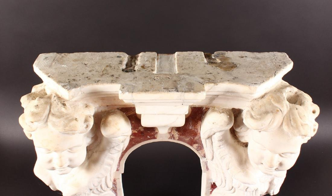 16TH-17TH CENTURY ITALIAN CARVED MARBLE NICHE - 2