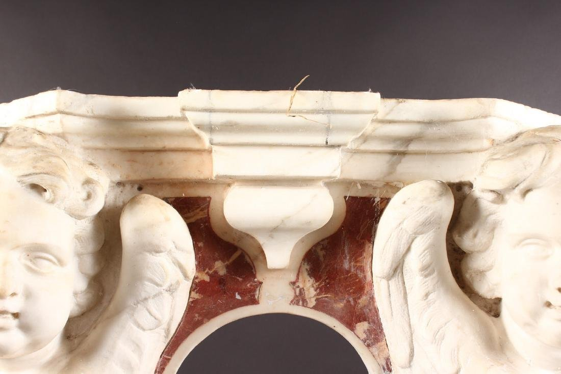 16TH-17TH CENTURY ITALIAN CARVED MARBLE NICHE - 5
