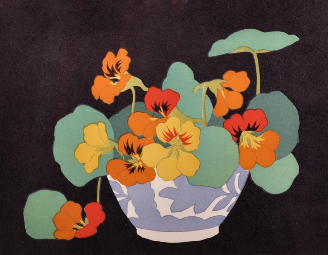 """John Hall Thorpe (1874-1947) Australian. """"Nasturtium"""","""