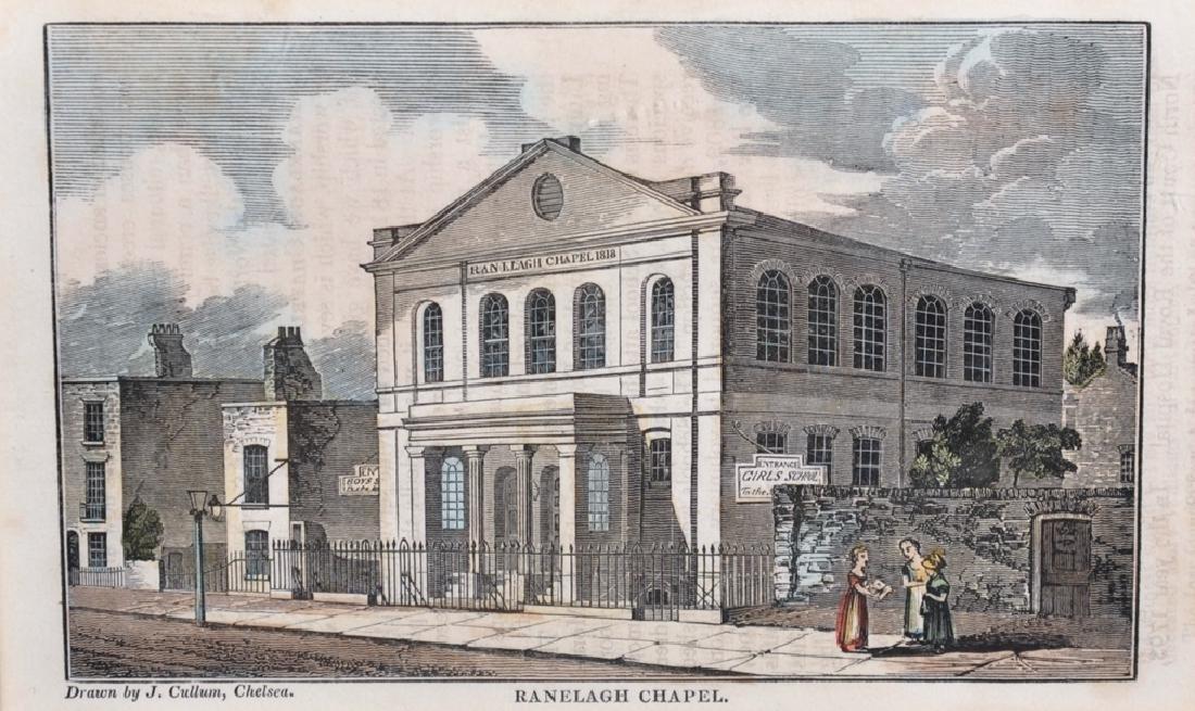 "John Cullum (19th Century) British. ""Ranelagh Chapel"""