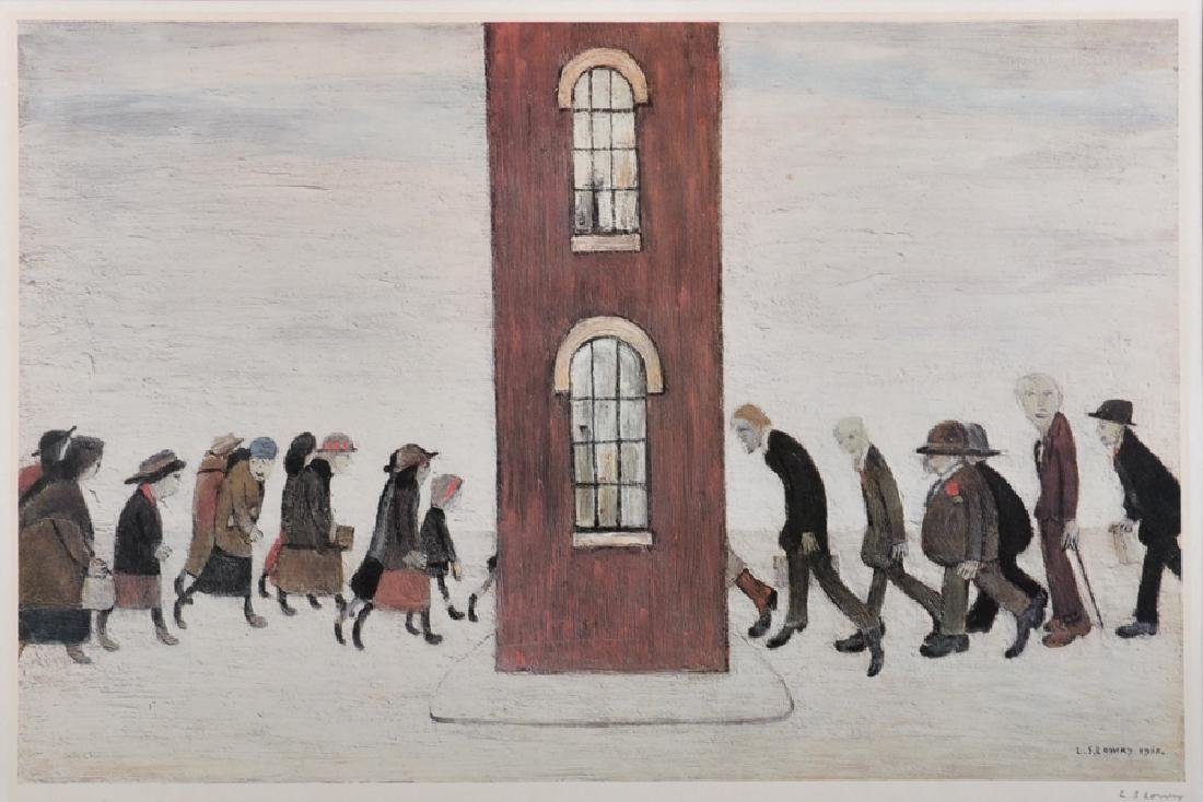 Laurence Stephen Lowry (1887-1976) British. A Street