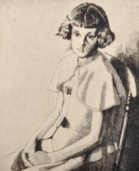 Carl L... Wragg (20th Century) British. 'Mary',