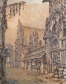 William Henry Hunt (1790-1864) British. 'Rouen', a