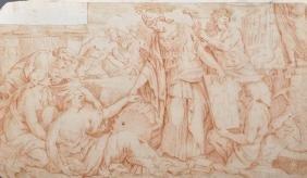 18th Century Italian School. Charity Bestowing Gifts,