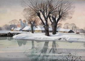 Rowland Hilder (1905-1993) British. A Snow Covered