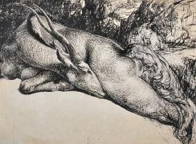 O'Neill (20th Century) Irish. A Sleeping Doe, in the