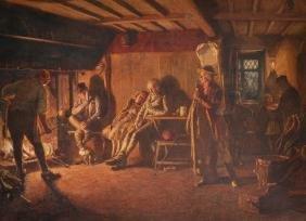 Henry Reynolds Steer (1858-1928) British. 'Gathering at