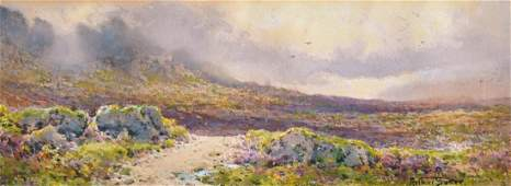 "Arthur Suker (1857-1902) British. ""South Devon Coast"","