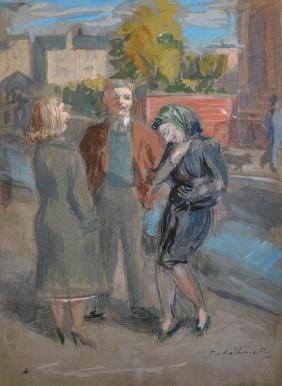"""Thomas Rathmell (1912-1990) British. """"A Jest in the"""