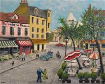 G Bray 20th Century British Place du Tertre