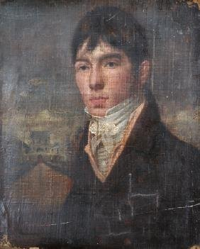 19th Century English School. Portrait of a Man, Oil on