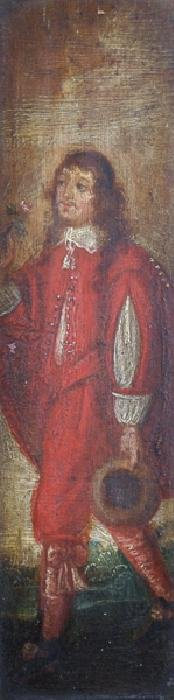 18th Century English School. Full Length Portrait of a