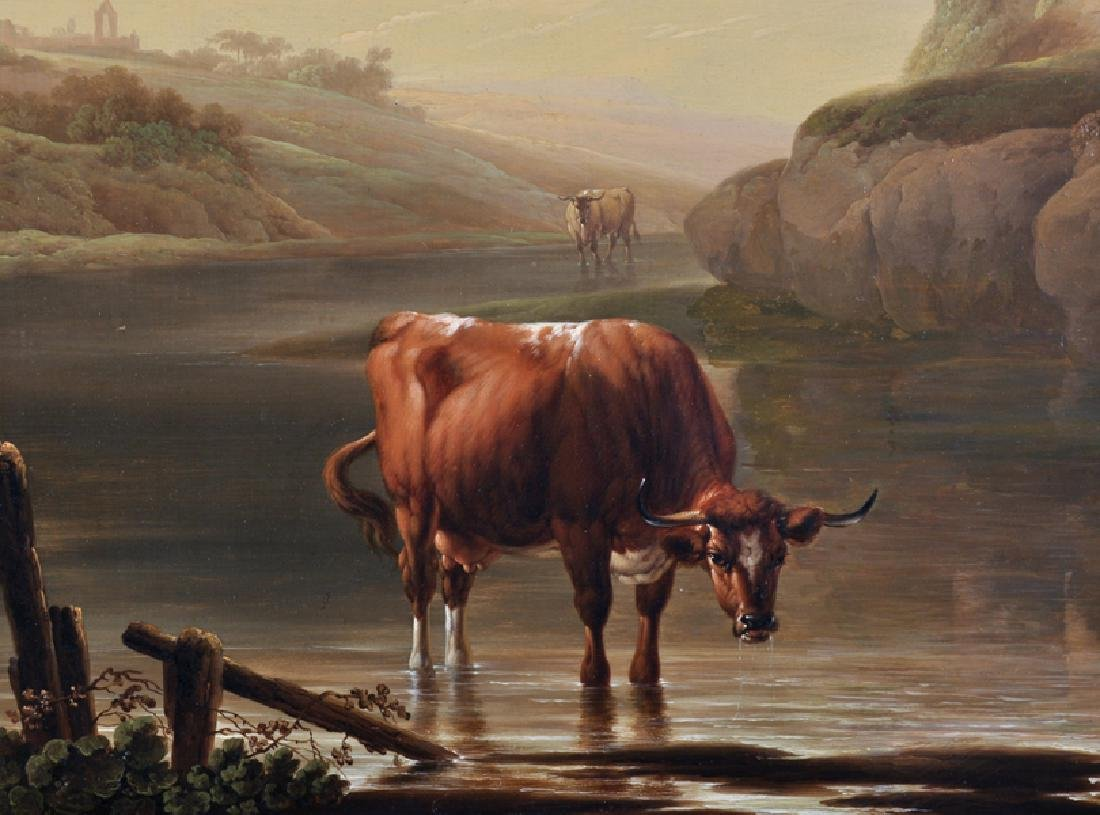 """Charles Towne (1763-1840) British. """"Cattle Watering in - 4"""