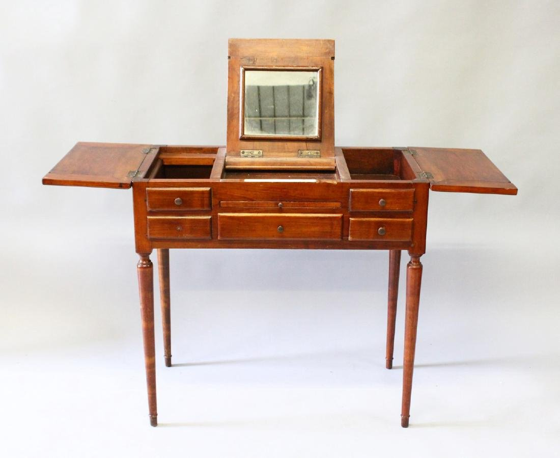 A SMALL 19th CENTURY FRENCH DRESSING TABLE with rising
