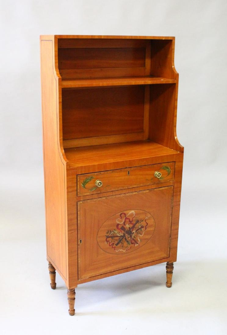 A SMALL 19th CENTURY FRENCH BONHEUR DU JOUR with shelf