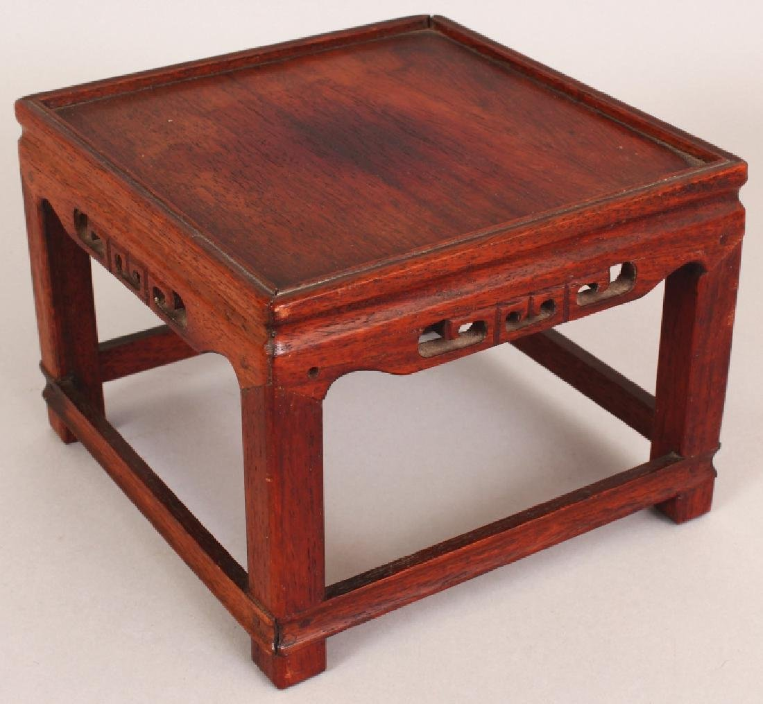 A 19TH/20TH CENTURY CHINESE SQUARE SECTION CARVED WOOD