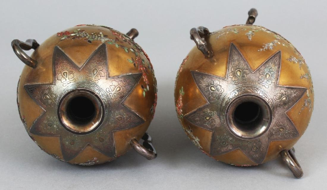 A GOOD PAIR OF JAPANESE MEIJI PERIOD SILVER MOUNTED - 7