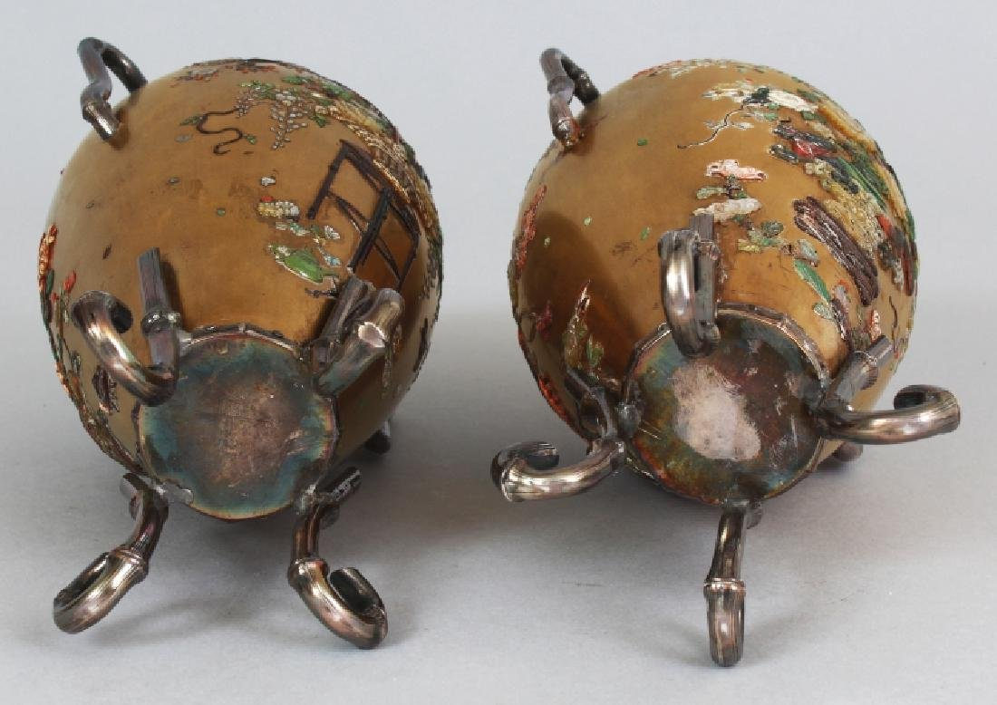 A GOOD PAIR OF JAPANESE MEIJI PERIOD SILVER MOUNTED - 8
