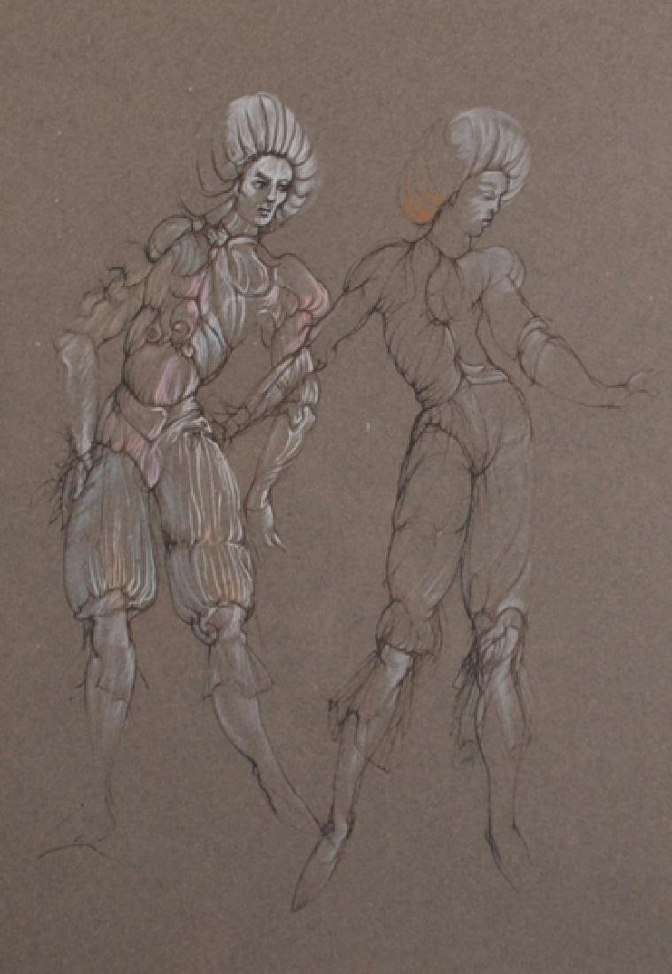 Leonor Fini (1907-1996) Argentinean. Study of Two