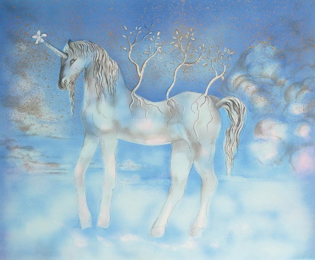 Salvador Dali (1904-1989) Spanish. A Unicorn,