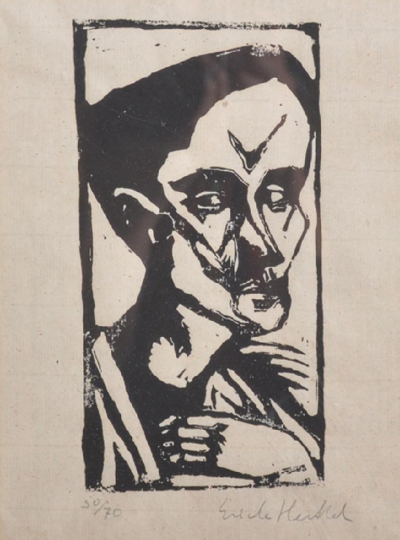 """Attributed to Erich Heckel (1883-1970) German. """"Der"""