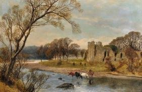 "James Peel (1811-1906) British. ""on The Glaslyn, North"