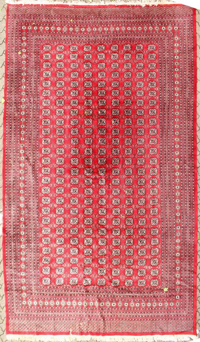 A LARGE BOKHARA CARPET with nine rows of twenty five
