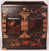 A JAPANESE MEIJI PERIOD LACQUERED WOOD TABLE CABINET