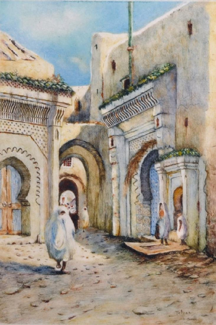 "David Donald (20th Century) British. ""Tetuan"", a Street"
