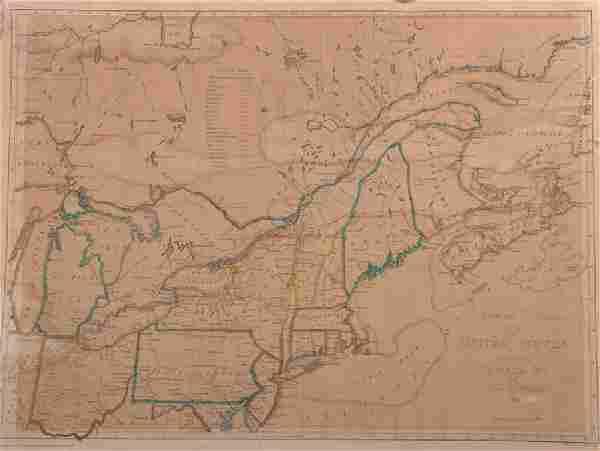 "John Melish (1771-1822) American. ""Northern Section of"