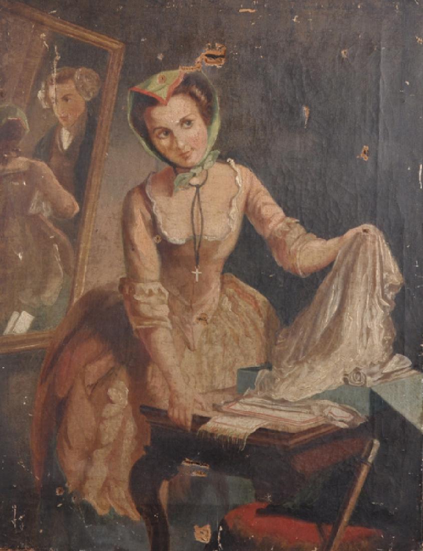 19th Century English School. Study of an Elegant Lady