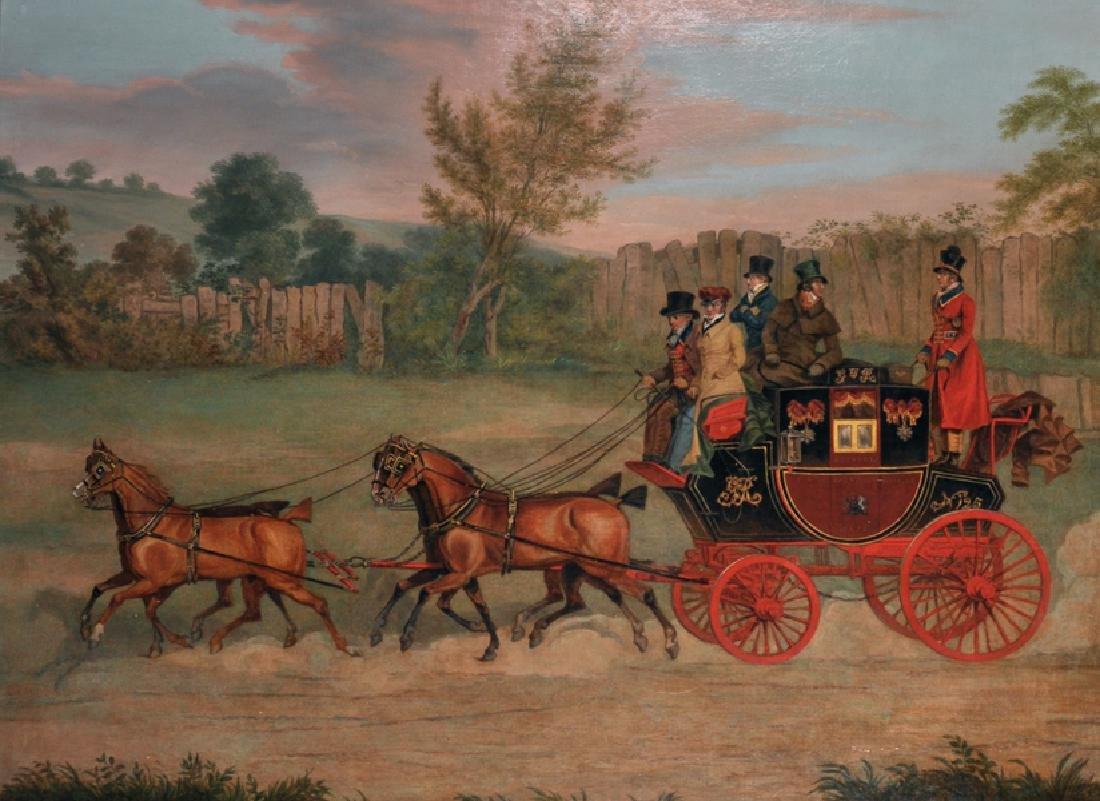 """James Pollard (1792-1867) British. """"The Bristol Mail,"""