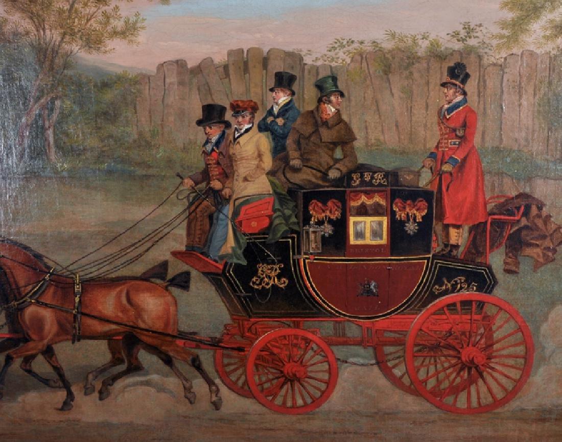 """James Pollard (1792-1867) British. """"The Bristol Mail, - 5"""