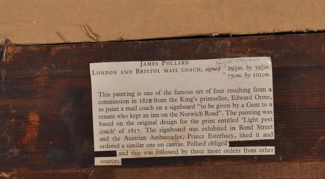 """James Pollard (1792-1867) British. """"The Bristol Mail, - 6"""