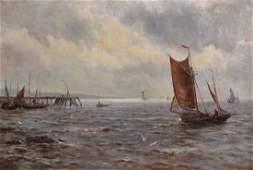 "Gustave de Breanski (c.1856-1898) British. ""Off The"