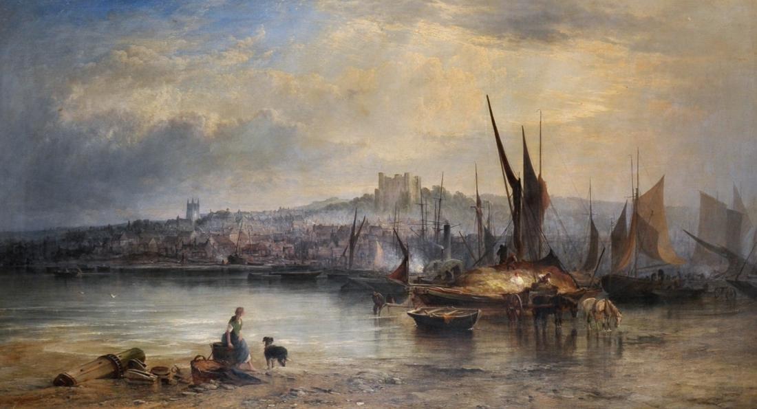 """George Augustus Williams (1814-1901) British. """"Summer"""