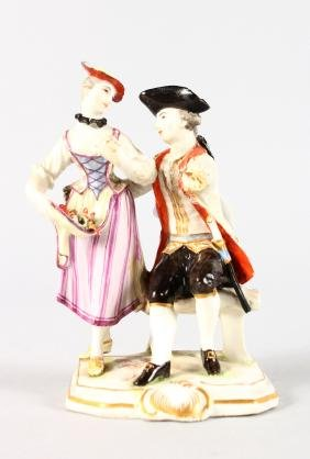 An 18th Century Ludwigsburg Porcelain Group Of Two