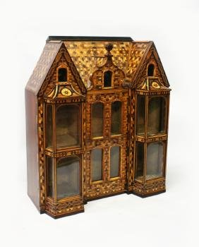 A Rare 19th Century Mahogany And Parquetry Baby House