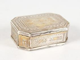 A Good 18th Century French Gold And Silver Inlaid