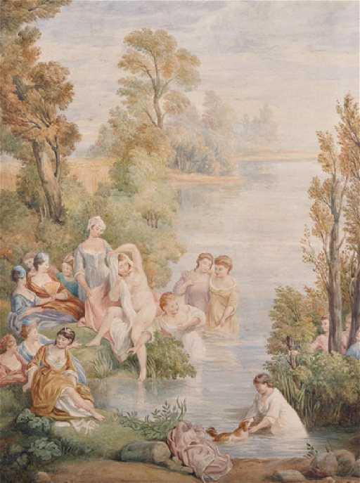 Naked Ladies Bathing in a