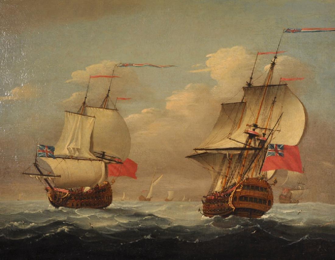 Circle of Peter Monamy (1681-1749) British. A Shipping