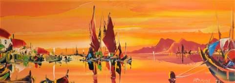 George Richard Deakins 19111982 British A Sunset