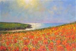"""Michael James Strang (1942- ) British. """"A Summers"""