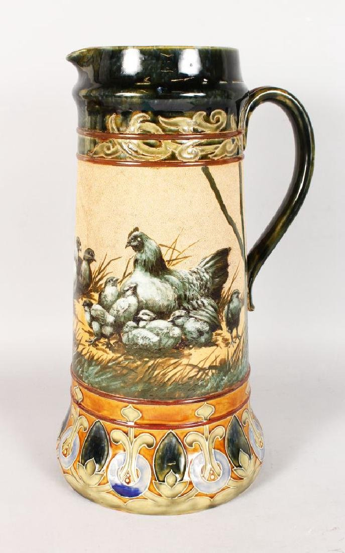 A HIGHLY IMPORTANT LARGE ROYAL DOULTON JUG by FLORENCE