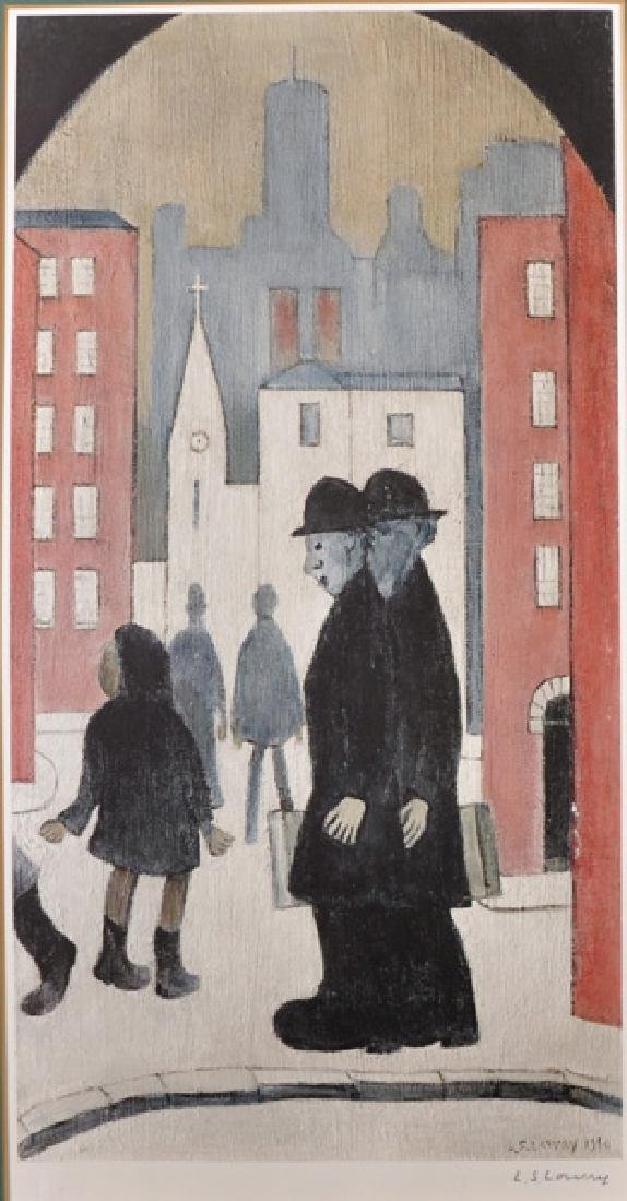 """Laurence Stephen Lowry (1887-1976) British. """"Two"""